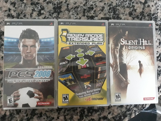 Pes 2008 + Midway Arcade + Silent Hill Origins
