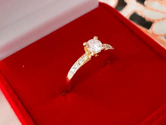 Solitário De Diamante Da Joalheria Sayegh De Ouro 18k