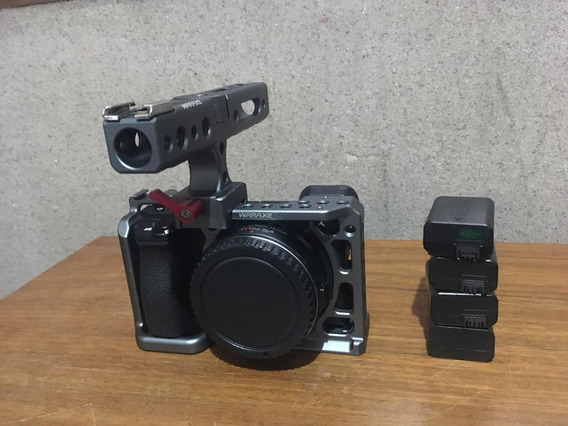 Sony A6500+cage+speedbooster