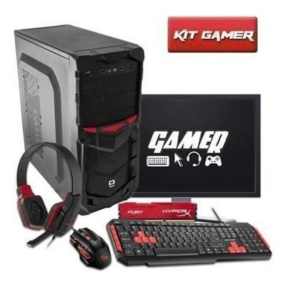 Pc Gamer Completo A4 6300, Teclado , Mouse E Headset Gamer