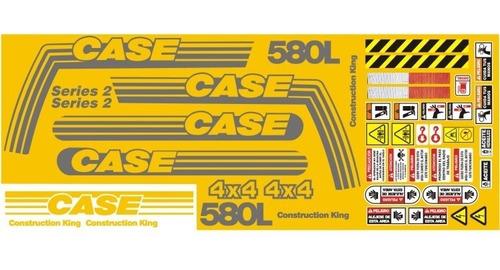 Imagen 1 de 1 de Calcomanías Para Retroexcavadora Case 580l