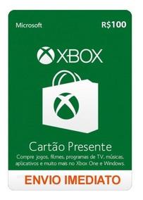 Cartão Microsoft Gift Card Xbox R$ 100 Reais Brasil Online