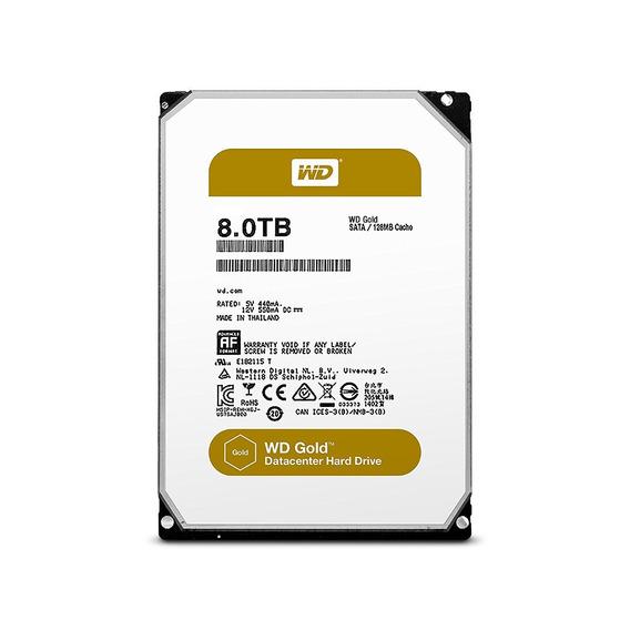 Hd 8tb Sata3 Western Digital Gold Enterprise - Wd8003fryz (3,5pol, 6gb/s, 7.200 Rpm, 256mb Cache)