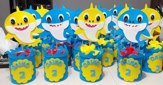 Centro De Mesa Baby Shark Personalizado