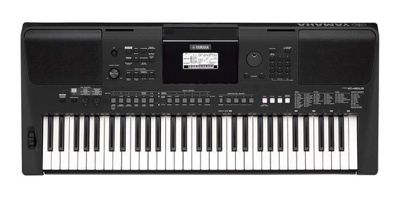 Teclado Musical Arranjador Yamaha Psr-e463 Preto Com Fonte