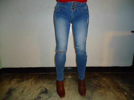 Pantalón Blue Yins De Dama Marca Studio F. Talla 4. (10)