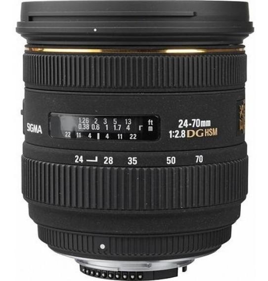 Lente Sigma (erro 1) R$1750,0 Canon 24-70mm Hsm Ex Dg F/2.8