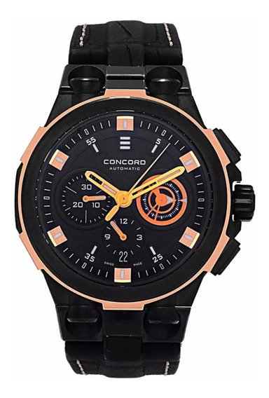 Relógio Concord C2 Chrono 18k Rose Gold & Steel Automatic