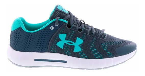 Zapatillas Under Armour Micro G Pursuit Mujer Running Azul