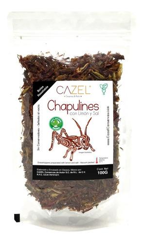 Chapulines Comestibles Oaxaca Limón Y Sal Al Vacío 100g