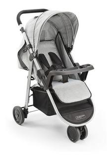 Carrinho Bebê 3 Rodas Agile Cinza Bb526 - Multikids Baby