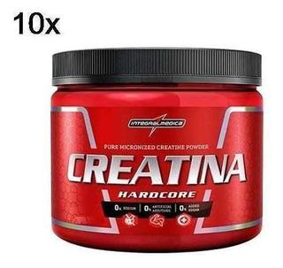 Kit 10x Creatina Hardcore - 300g - Integralmédica Atacado