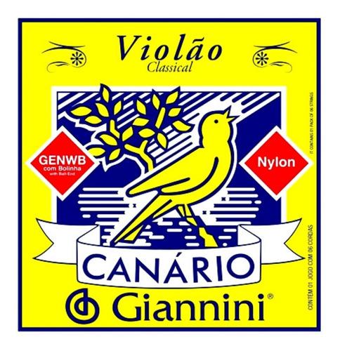 Imagem 1 de 4 de Encordoamento Violão Nylon Jogo C/6 Giannini Canario Novo