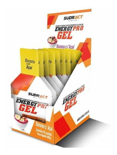 Caixa Energy Pro Gel 15 Sachê De 30g Banana Com Açai Sudract