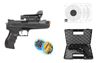 Pistola Pressão Beeman 5.5mm Red Dot + 125 Chumbinhos + Alvo
