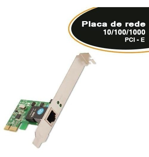 Placa De Rede 10/100/1000 Pcie-1x Dp 02 - Empire