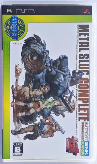Jogo Metal Slug Complete Playstation Psp Original Japonês