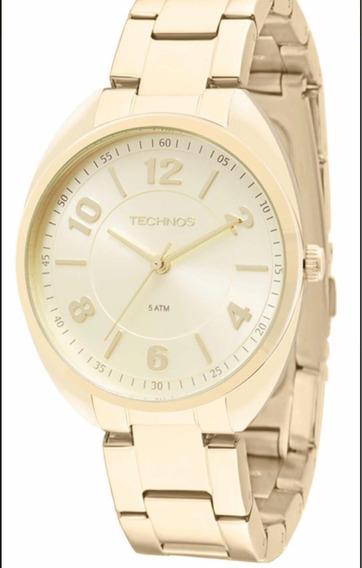Relógio Technos Feminino Dourado 2035mcf/4x
