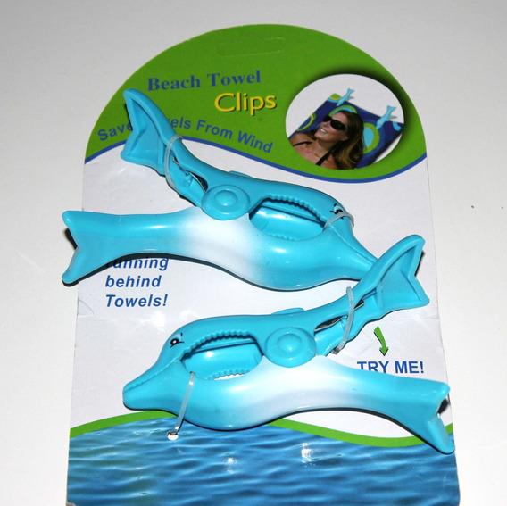 Clips - Grampo Para Toalha De Praia / Piscina - Golfinho