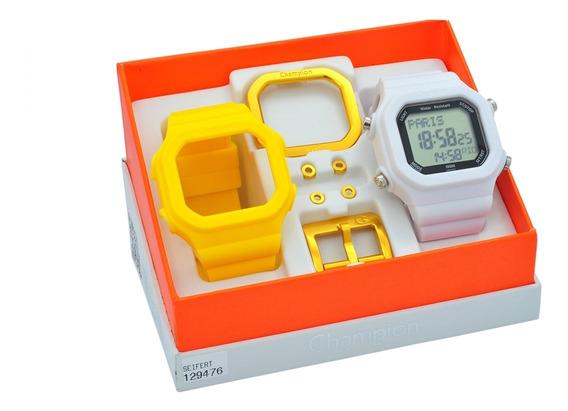 Relógio Champion Yot Unissex Kit Troca Pulseiras Cp40180x
