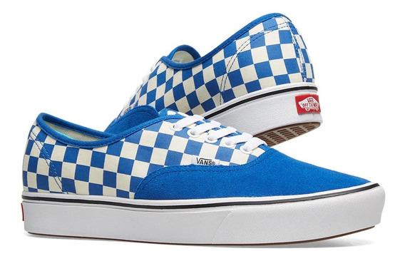 Tenis Vans Original Comfycush Authentic Lona Con Suede Azul