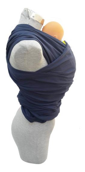 Fular, Portabebe Con Instructivo Azul Marino