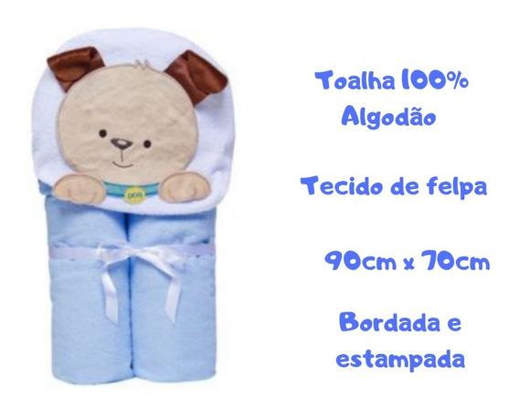 Toalha De Banho Bebe Personalizada Estampada Soft Algodão