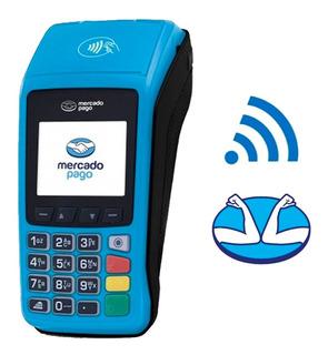 Kit Mercado Pago Point Plus Posnet Wifi Chip + 4 Rollos !