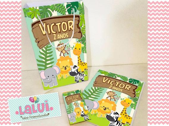 20 Kit Colorir Safari Sacola Revista Personalizado
