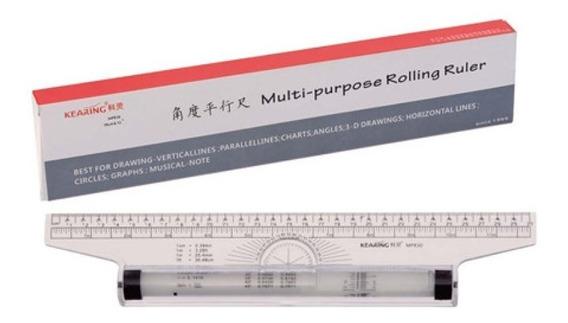 Régua Rolante Do Tipo Roller - 12pol /30cm - Várias Funções