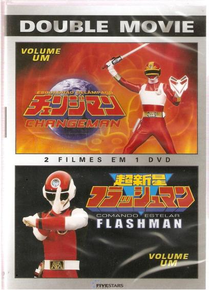 Dvd-double Movie:changeman & Flashman-vol.1-otimo:original