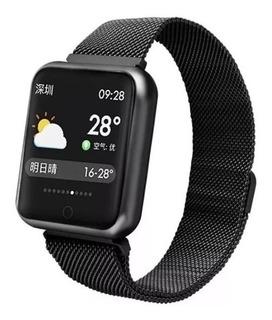 Relógio Inteligente Smartwatch P70 Pulseira Milanese Loop