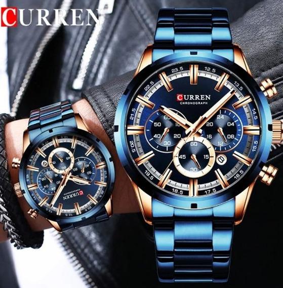 Lindo Relógio Aço Inoxidável, Marca De Luxo.