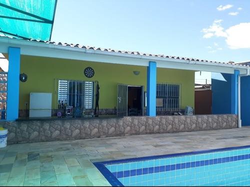 Imagem 1 de 14 de 5436 - Casa 2 Dormitórios Piscina Balneário Agenor  Mongaguá