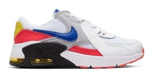 Tenis Padres Original Nike Air Max Excee Ps 2101 Blanco Niño