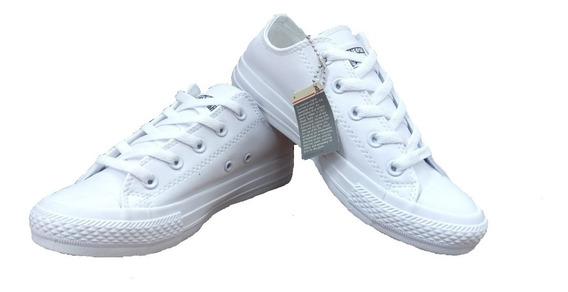 Tennis Zapatillas Converse Unisex Blancas Cuero