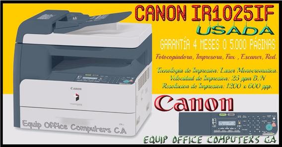 Fotocopiadora Canon Ir-1025if, Impr, Oficio, Duplex