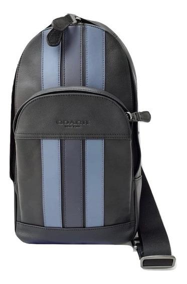 Coach Mochila Hombre Slim Backpack F49318 Black Mid Original