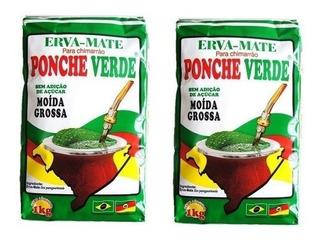 Ponche Verde Erva Mate Moída Grossa 2 Kg Chimarrão Gaúcho