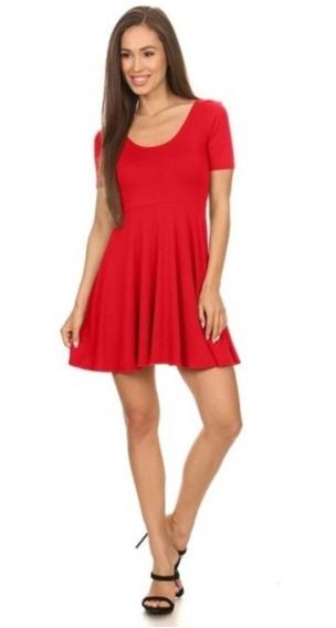 Vestido Juvenil Corto Sexy Elegante Rojo