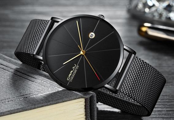Relógio Masculino Crrju 2216 - Calendário (pronta Entrega)
