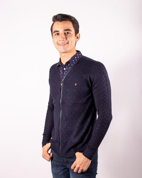 Sueter Con Media Camisa Frontal Integrada Marca Moderno