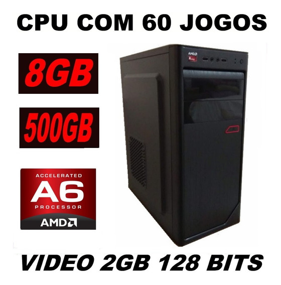Cpu Gamer +60 Jogos Barato 3.8 Ghz 8gb Csgo Gta V Pes Lol