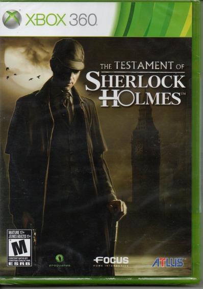 The Testament Of Sherlock Holmes Xbox 360 Original Novo