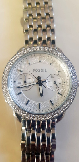 Reloj Fosil Para Dama Con Brillantes Es4054