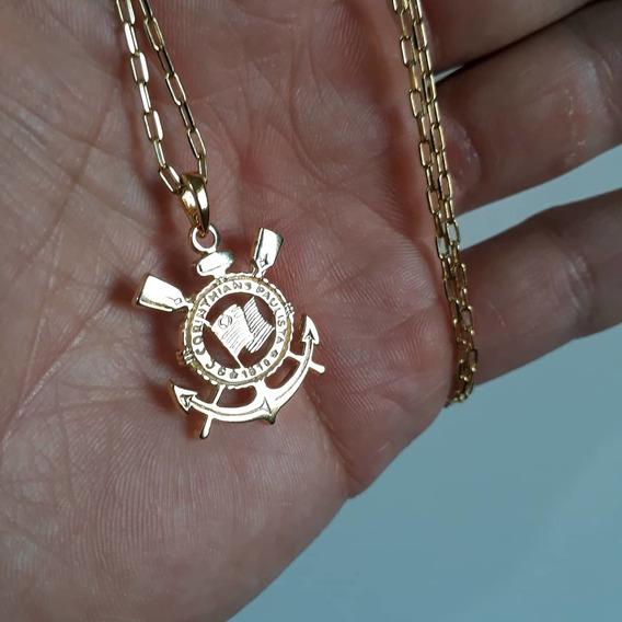 Corrente Banhada A Ouro Do Corinthians
