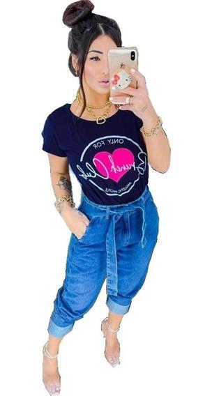 Kit 20 Blusinha T-shirts Blusas Choker Revenda Roupa Atacado
