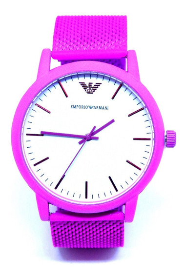 Relógio Feminino Pink Branco Analógico Aço Promoção + Caixa