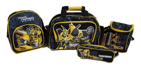 Pack Transformers Bolso + Mochila + Lonchera + Estuche Amari