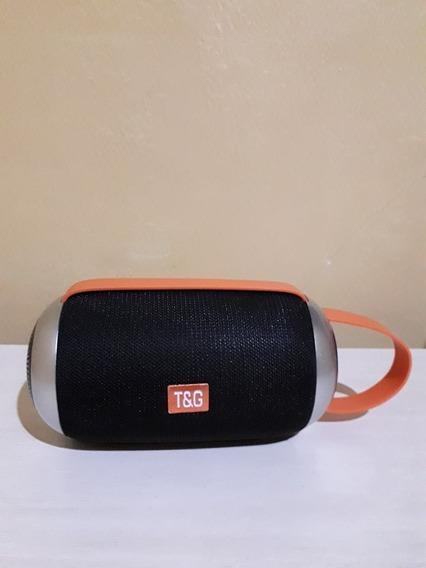 T&g Caixa De Som Bluetooth Cor Preta Portátil (tg112 No Cel)